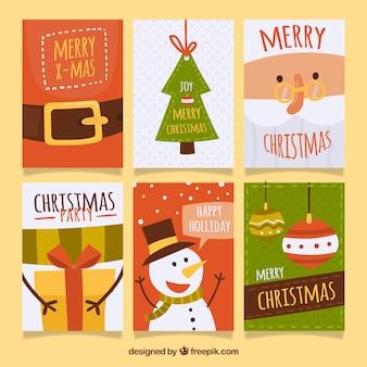 クリスマスのポストカードのコレクション