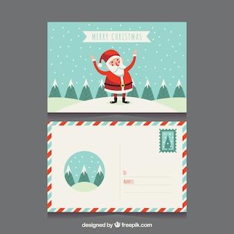 サンタクロースクリスマスポストカード