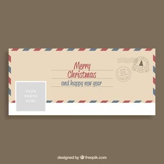Веселые поздравления с рождеством на конверте