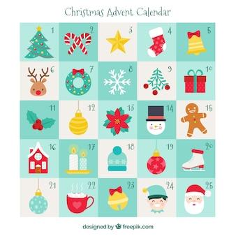 手描きのクリスマスアドベントカレンダー