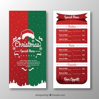 Веселое рождественское винтажное меню