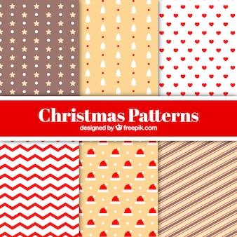 様々な装飾的なクリスマスパターン