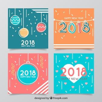 ニース正方形の新年のグリーティングカード