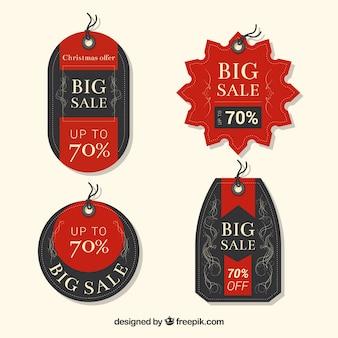 Набор красивых рождественских наклеек для продажи