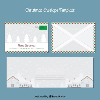 クリスマスエンベロープテンプレートセット