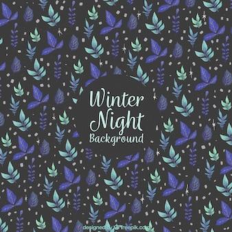 冬の夜のパターンの背景
