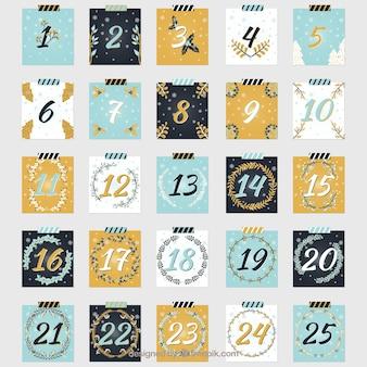 Календарь приключений в четырех цветах