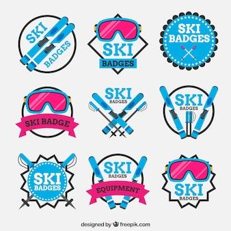 スキーバッジコレクション