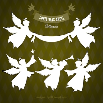 白いクリスマスの天使のコレクション