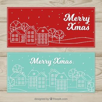Рождественские баннеры города