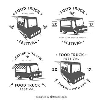 Коллекция значков грузовых автомобилей