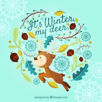 Зима моя олень
