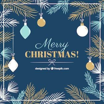 メリークリスマスのかわいい装飾の背景