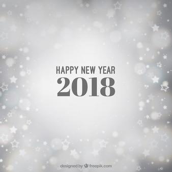 Серебряный размытый фон нового года