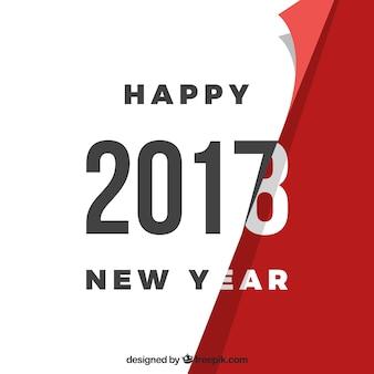 Поворот страницы - фон нового года