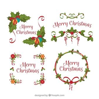 Набор декоративных рождественских рам