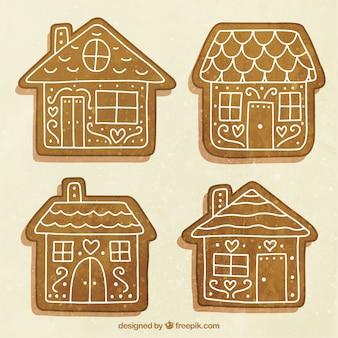 Прямоугольные дома с четырьмя руками