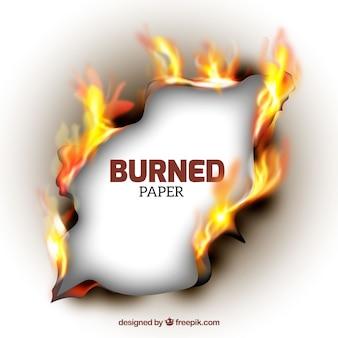 Реалистичная текстура сожженной бумаги