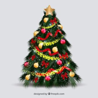 美しい装飾クリスマスツリー