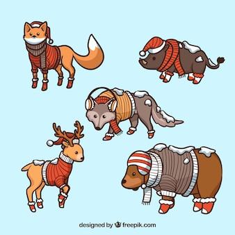 Зимнее лесное животное