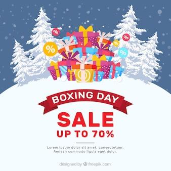 Снежный день продаж бокса