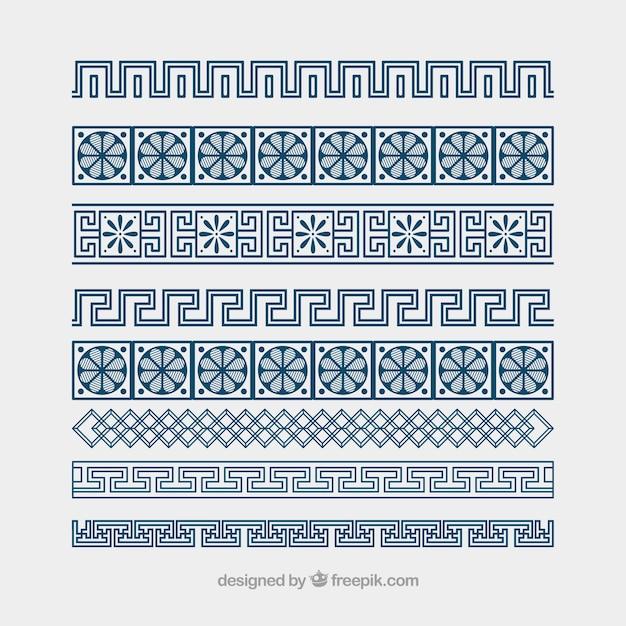 無料のギリシャのベクトル飾り蛇行ボーダー