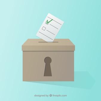 ロック穴と投票箱