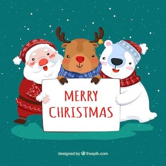 クリスマスの文字の背景