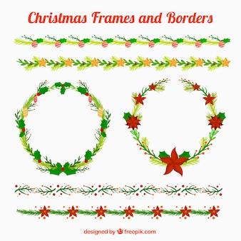 Красивые рождественские рамки и границы