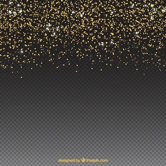 光沢のある粒子の背景には、底部にスペースがあります