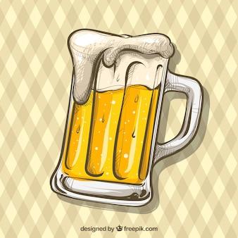 手描きのビールの背景
