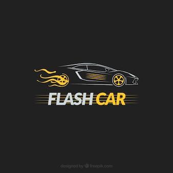 Логотип с изолированным автомобилем