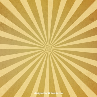 黄色のストライプとレトロな太陽光線