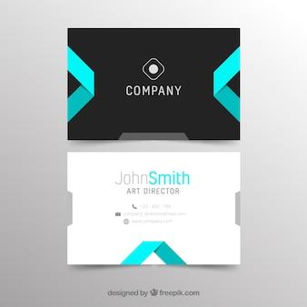 Абстрактный современный шаблон визитной карточки