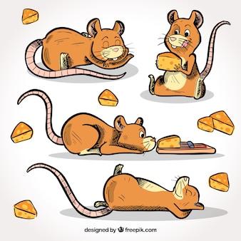 手描きのマウスコレクション