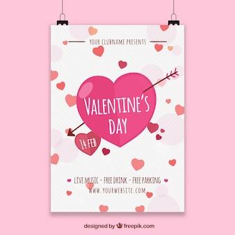 バレンタインポスターテンプレート