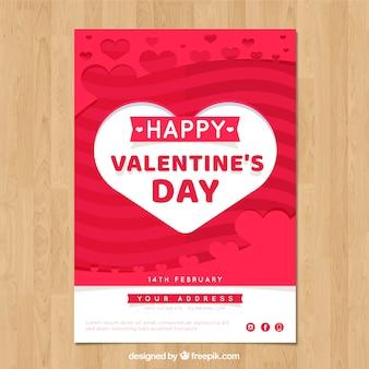 バレンタインデーのチラシとポスターのテンプレート