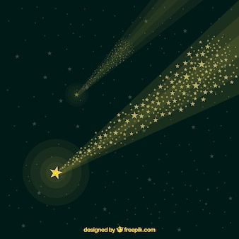 宇宙の星軌跡の背景