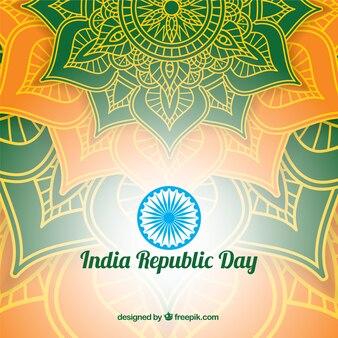 輝くインドの日のデザイン
