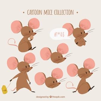 Коллекция мультяшных мышей