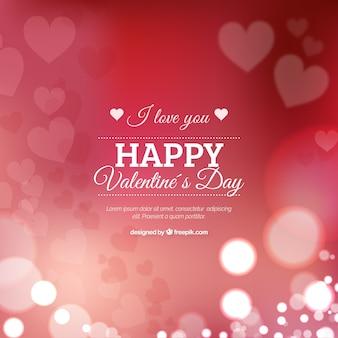 Размытый день святого валентина с сердечками