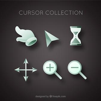 Коллекция плоских курсоров