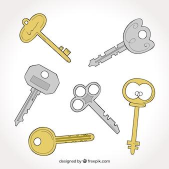 異なる種類のキーのセット