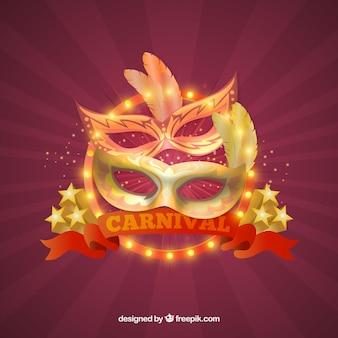 Блестящий дизайн карнавального фона
