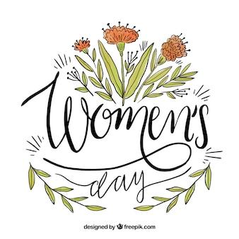 女性のための花のレタリングデザイン