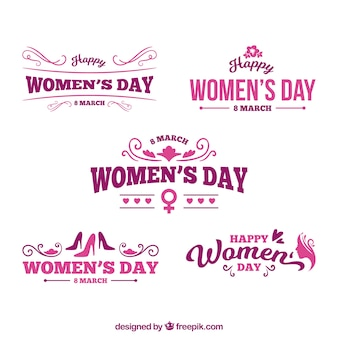 Набор логотипов для женщин