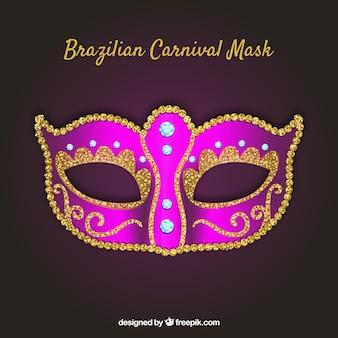 シャイニーピンクのブラジルのカーニバルマスクデザイン