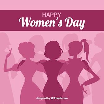 ピンクの女性の日の背景