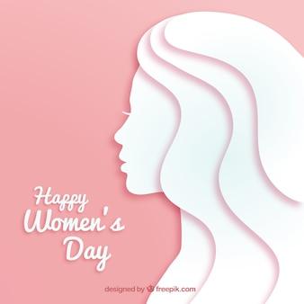 紙のスタイルで女性の日の背景