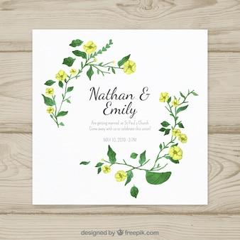 ニースの水彩の結婚式の招待状